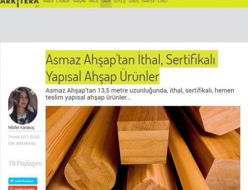 Asmaz Ahşap'tan İthal, Sertifikalı Yapısal Ahşap Ürünler – Arkitera